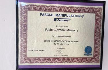 Studio di Fisioterapia Dr.Mignone - Certificato