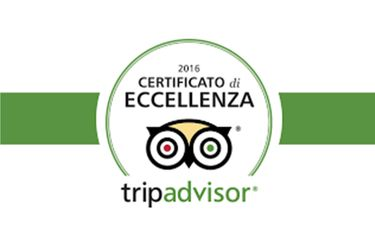 Certificato Tripadvisor 2016