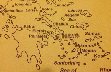 Ristorante Atene - Cartina