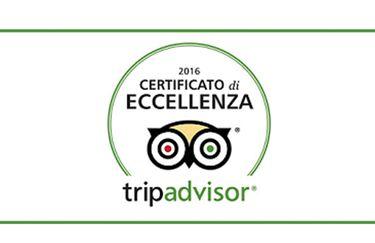 Certificato di Eccellenza Tripadvisor