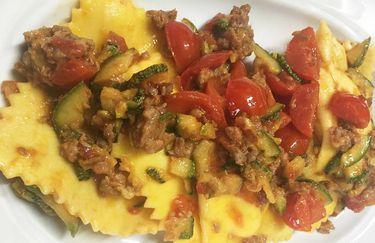 Osteria della Serafina - Ravioli pomodorini