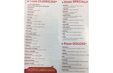 Pizzeria La Bufala - Menù Pizze
