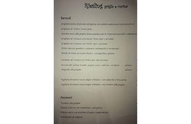 Ristorante Riesling - Menù