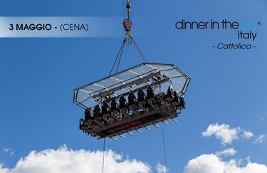 dinner in the sky - cena 3 maggio