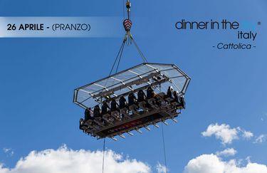 dinner in the sky - pranzo 26 aprile
