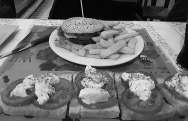 bruschetteria la villa - hamburger bruschetta
