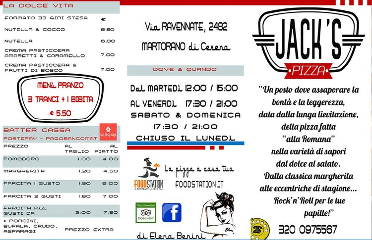 Jack's Pizza - Menu